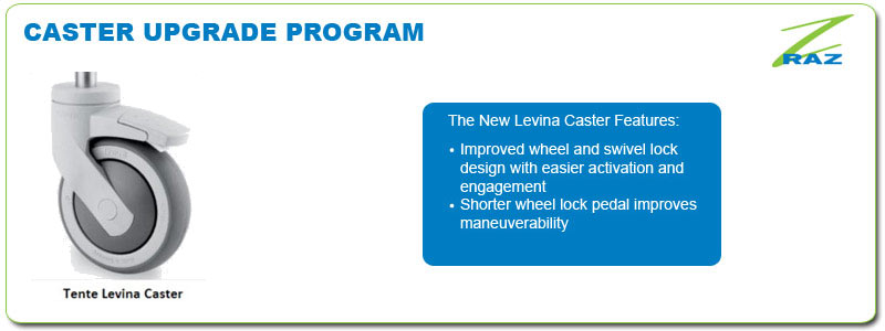 In October 2010 Raz moved from the 5327 caster used by many shower chair manufacturers to the new Levina caster. Both casters are manufactured by Tente ...  sc 1 st  Raz Design & Casters   Rehab Shower Commode Chairs   Raz Design Inc.