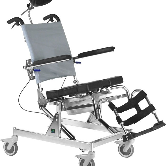Tilt Rehab Shower Commode Chair